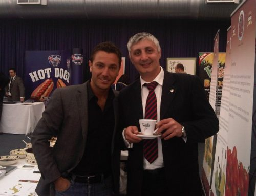 Caffe Torelli Sales Manager and Gino D'Acampo